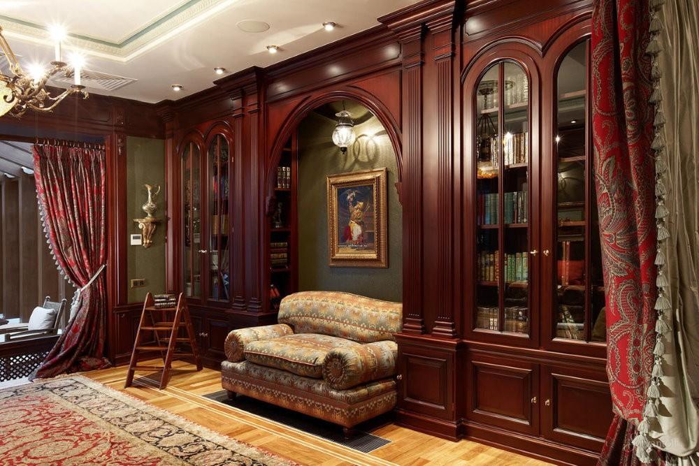 Деревянная мебель в квартире английского стиля