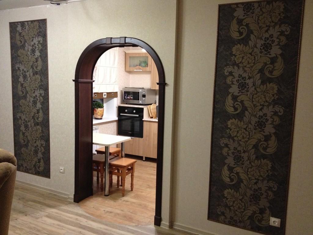 Арка между кухней и гостиной в хрущевке