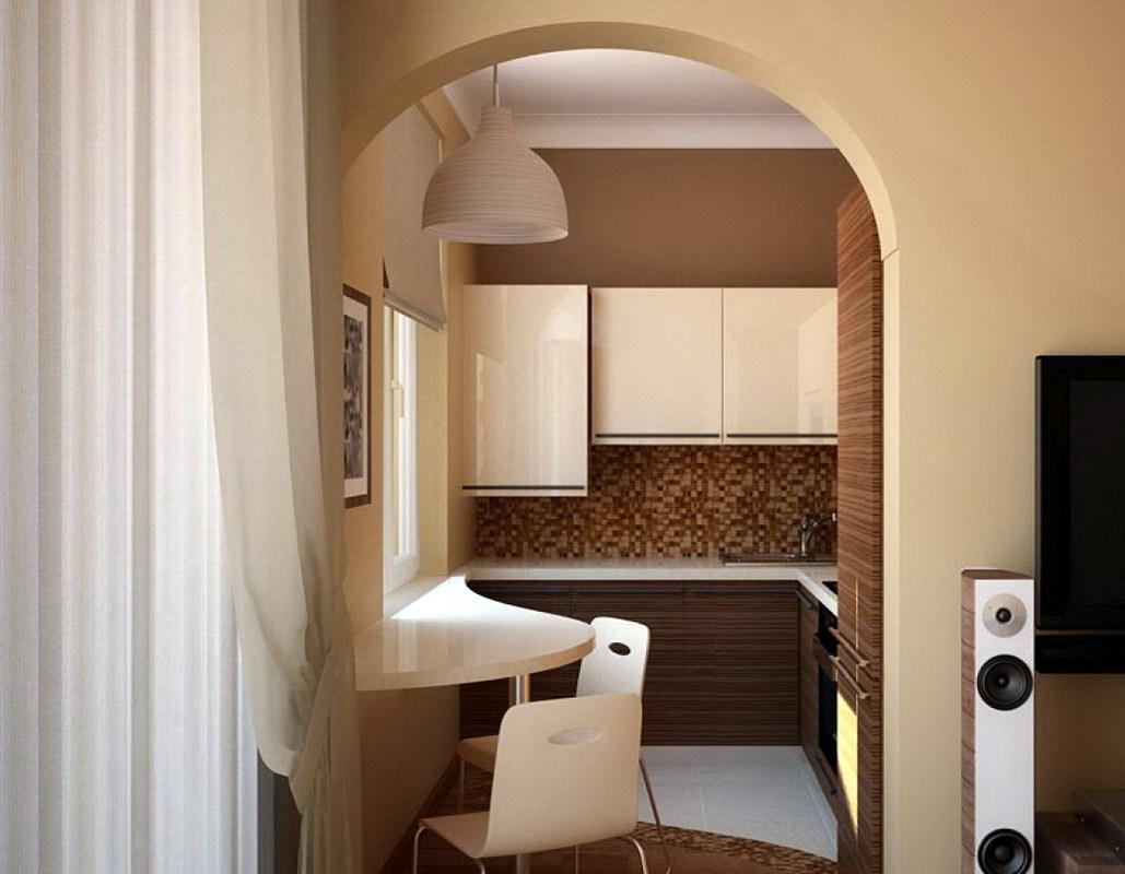 арка на кухне вместо дверей