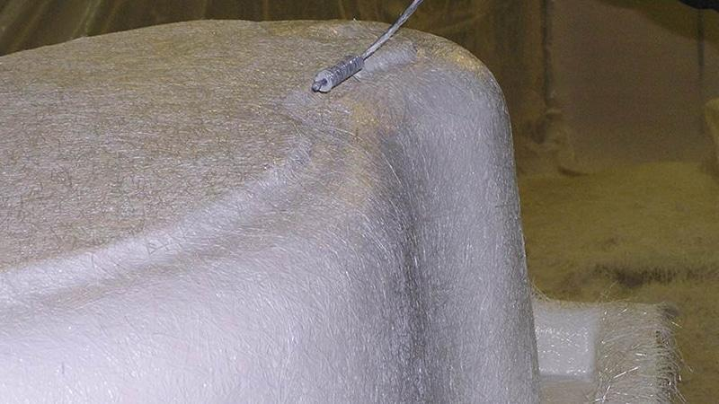 Стекловолокно на внешней части акриловой чаши