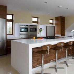барная стойка для кухни дизайн фото