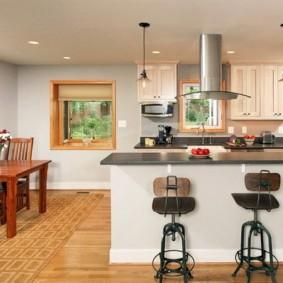 барная стойка для кухни фото дизайна