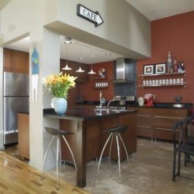 барная стойка для кухни оформление фото