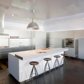 барная стойка для кухни фото оформления