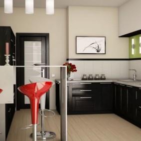 барная стойка для кухни идеи оформление