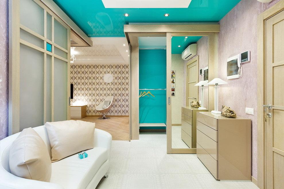 белая плитка на пол в коридор