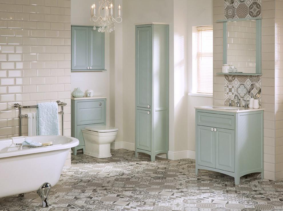 Интерьер ванной в духе французского прованса