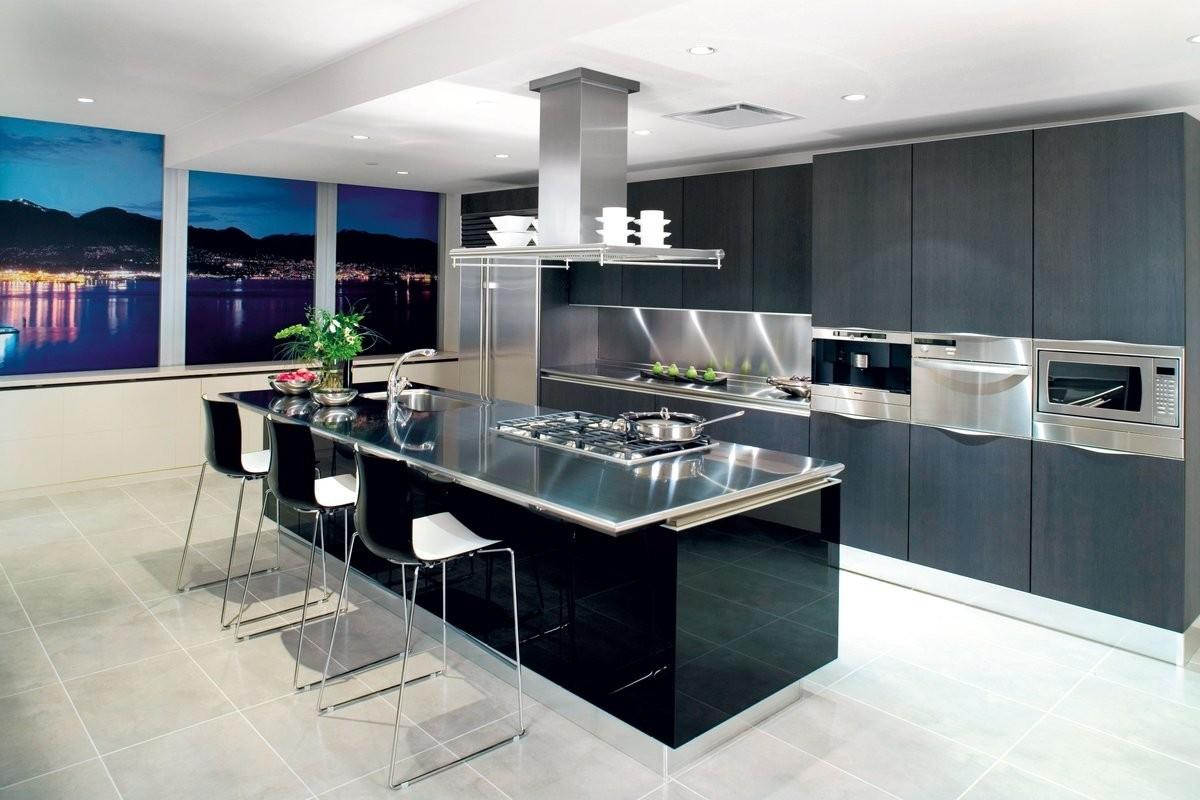 большая современная кухня