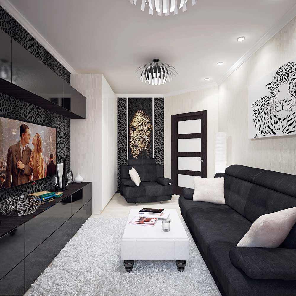 Черно белые фото в интерьере гостиной давних времен