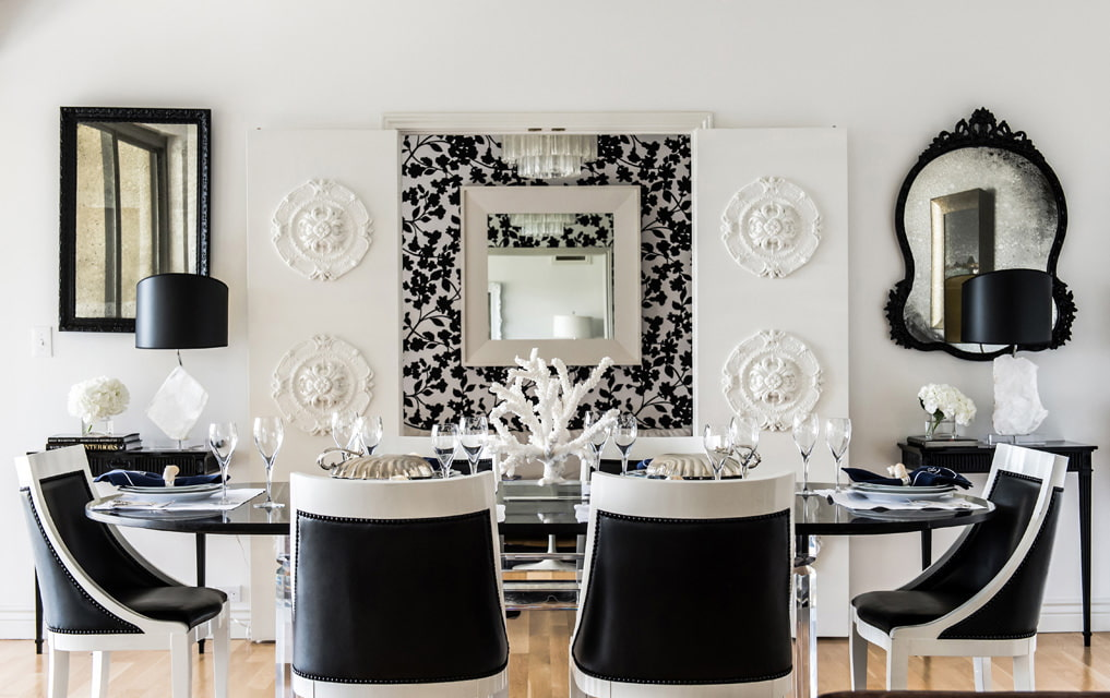 Черная обивка кухонных стульев