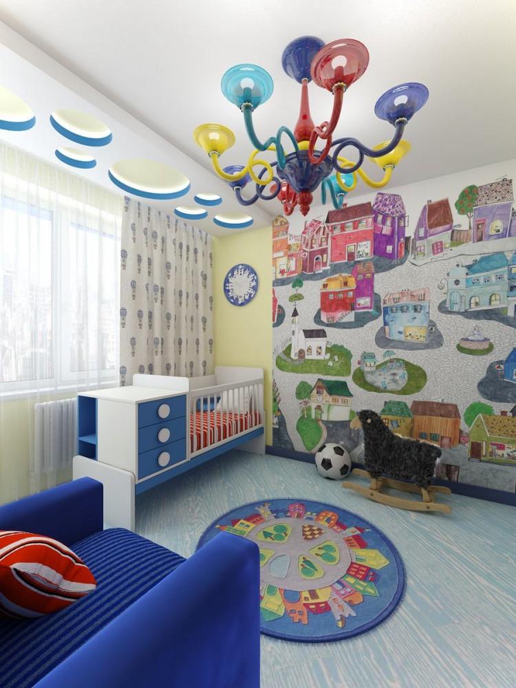 Интерьер детской комнаты после перепланировки двухкомнатной квартиры