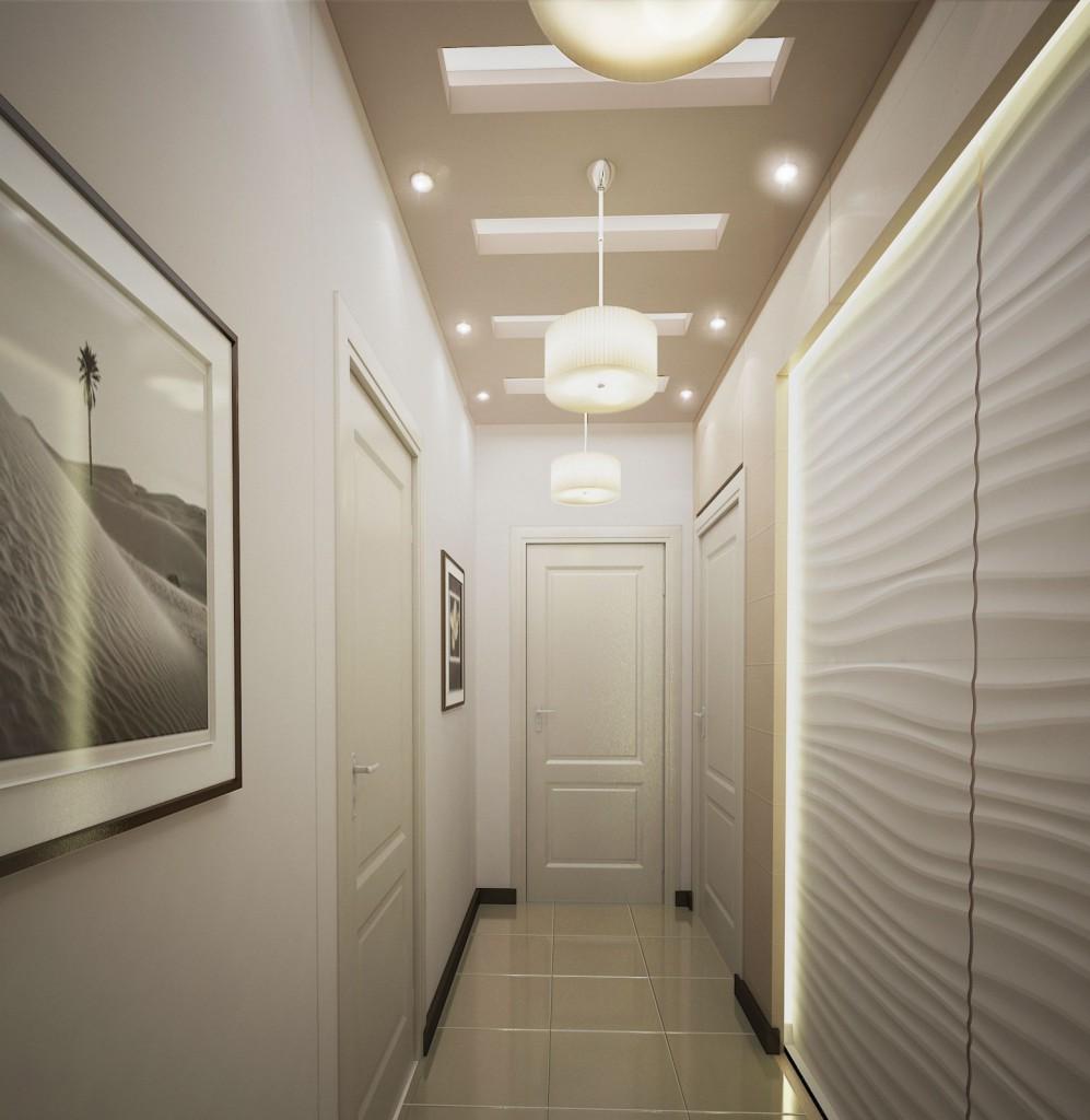 дизайн длинного и узкого коридоа