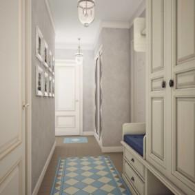 узкий коридор в квартире идеи фото