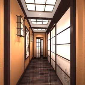 узкий коридор в квартире фото идеи