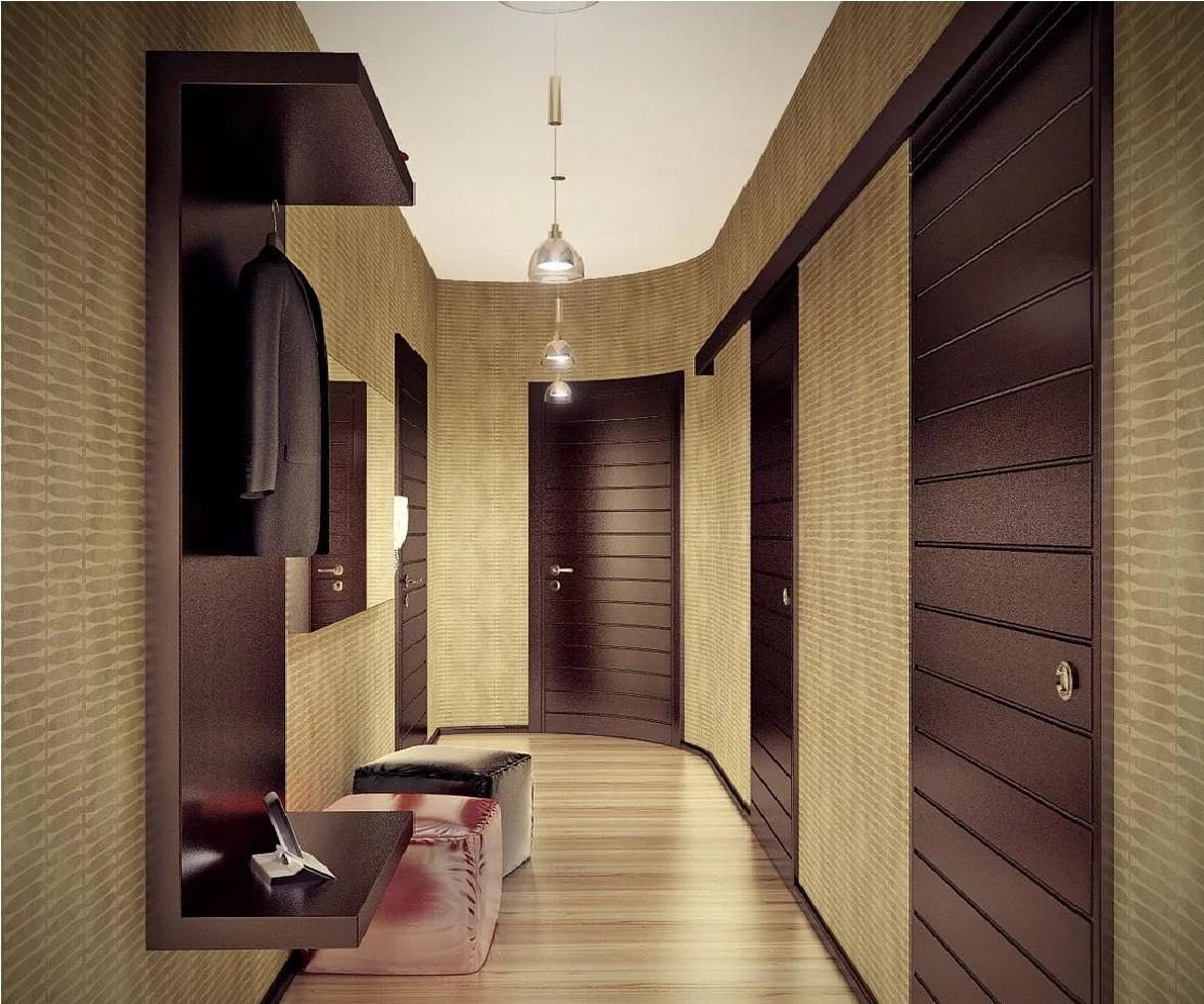 дизайн для узкого коридора в панельном доме