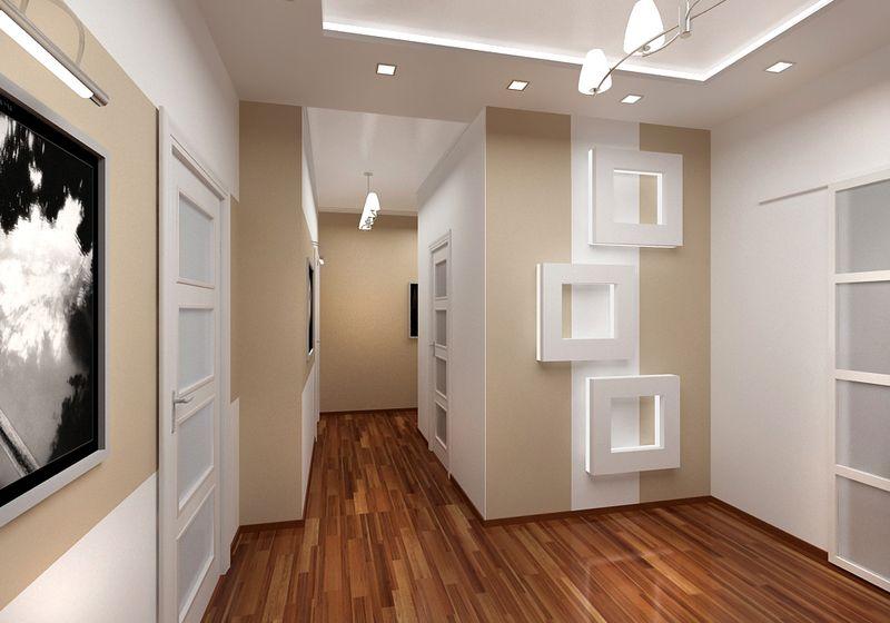дизайн узкого коридора идеи декора