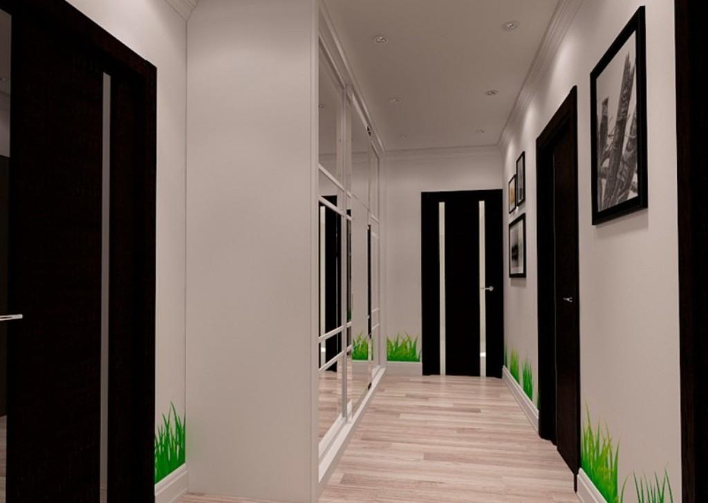 дизайн коридора в интерьере панельного дома