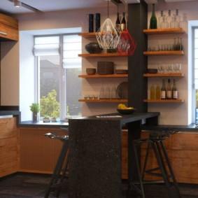 кухня в панельном доме дизайн фото