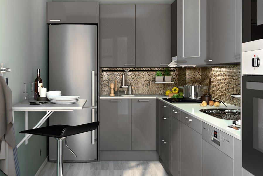 кухня в панельном доме варианты