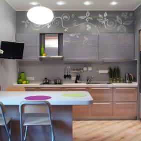 кухня в панельном доме фото декор