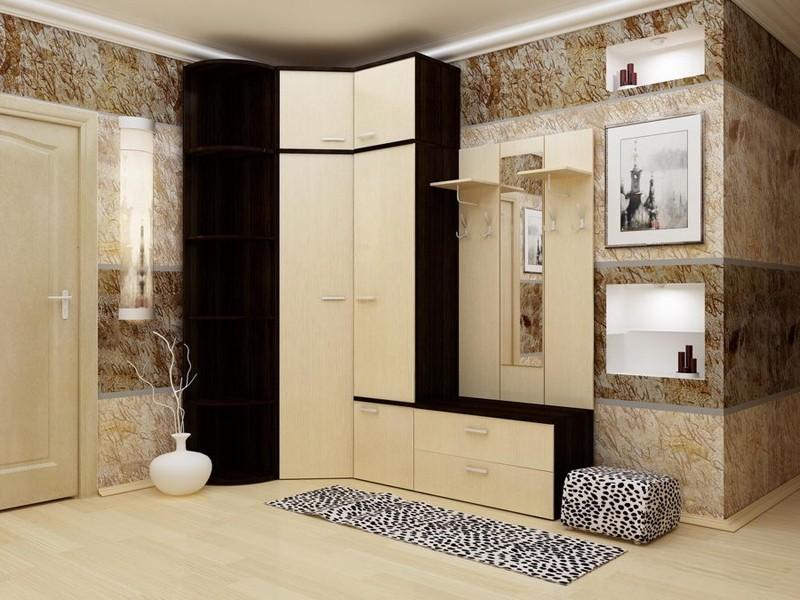 дизайн обоев в коридоре