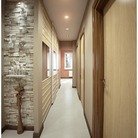 дизайн обоев для узкого коридора