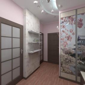 дизайн обоев для узкого коридора декор