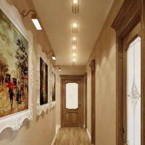 дизайн обоев для узкого коридора декор фото