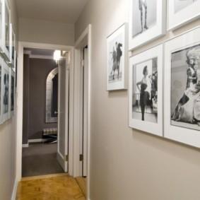 дизайн обоев для узкого коридора фото декор
