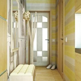 дизайн обоев для узкого коридора фото декора