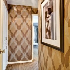 дизайн обоев для узкого коридора декор идеи
