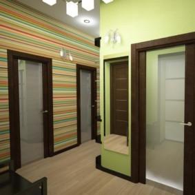 дизайн обоев для узкого коридора интерьер