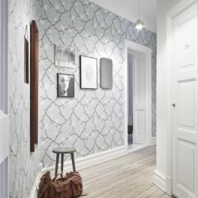 дизайн обоев для узкого коридора интерьер фото