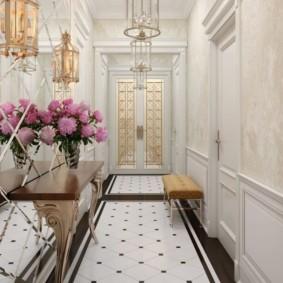 дизайн обоев для узкого коридора фото интерьер
