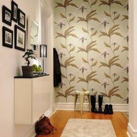 дизайн обоев для узкого коридора фото интерьера