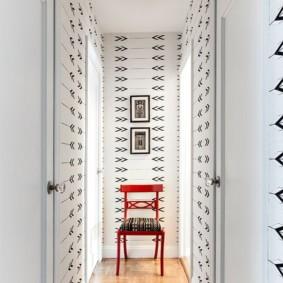 дизайн обоев для узкого коридора идеи интерьера