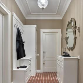 дизайн обоев для узкого коридора фото оформление