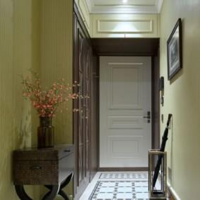 дизайн обоев для узкого коридора фото оформления
