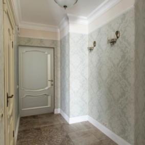 дизайн обоев для узкого коридора варианты