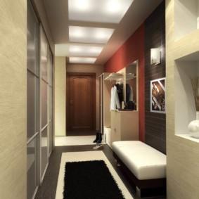 дизайн обоев для узкого коридора идеи фото