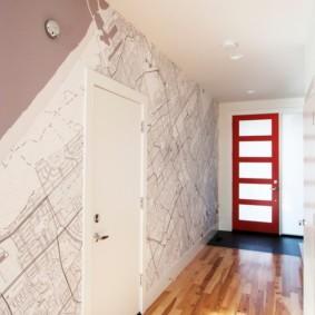 дизайн обоев для узкого коридора идеи вариантов