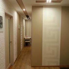 дизайн обоев для узкого коридора фото виды