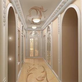 дизайн обоев для узкого коридора идеи виды