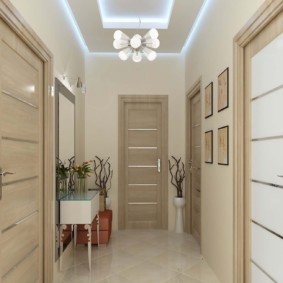 дизайн обоев для узкого коридора фото идеи