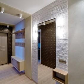 современный дизайн обоев для узкого коридора