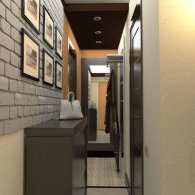 практичный дизайн обоев для узкого коридора