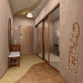 удобный дизайн обоев для узкого коридора