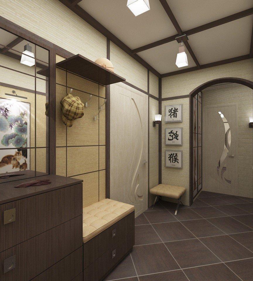 дизайн пола в коридоре японский стиль
