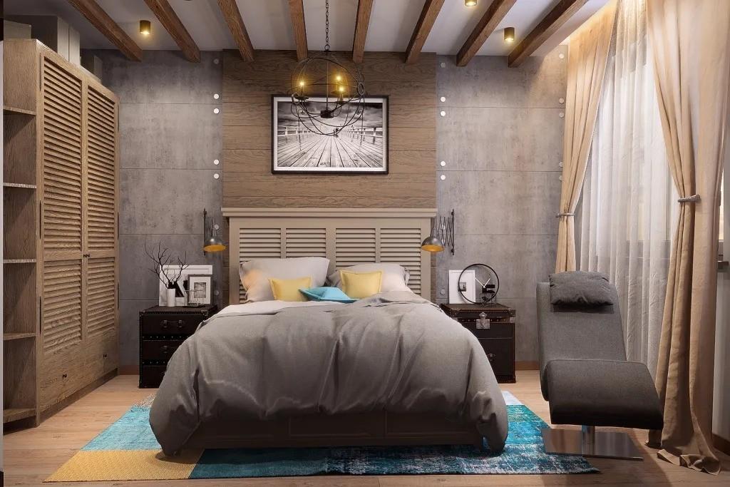 спальня 14 кв метров гранж