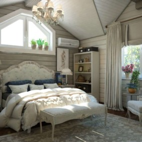 дизайн спальни 14 кв м кантри